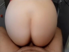 This amateur pov fuck video shows me and my babe fucking in the kitchen. She rides my long dick wi.