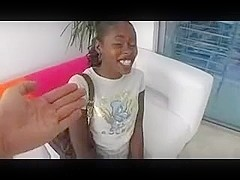 Young ebony angel fuck and facial