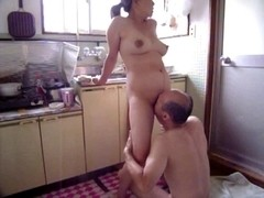 Japanese Mother I'd Like To Fuck at kitchen