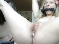 Hot Blonde Tied up Has Multiple Orgasms