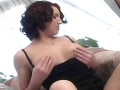 Horny Hotty Rubs Her Pussy On The Chair