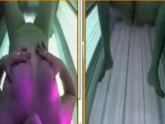 Hawt college cutie caught on hidden web camera in solarium