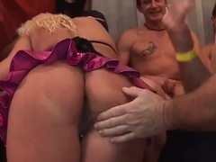 gangbang orgy with busty tattooed german