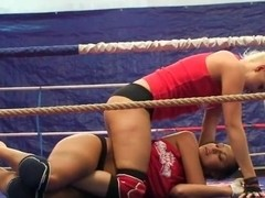 Brandy Smile doing a fight girl to girl action