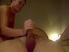 mature deepthroating, she takes it all