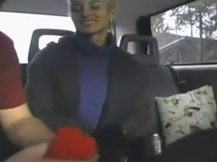 Blonde streetslut fucks me on the backseat of my car