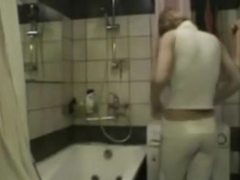 Golden-Haired girlfriend has a sexy shower fuck