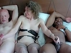 Linda Stroking two cocks