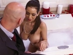 Johnny Sins' dick is covered with cream by Yurizan Beltran