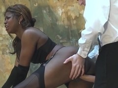 Black chick Jasmine Webb takes a huge Danny's D cock in her mouth