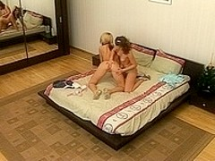 Two hot girls with spanking