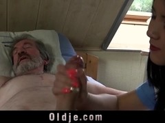 Two grandpa handjob pa