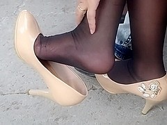 Candid shoeplay in the park 2
