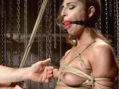 Gorgeous Newcomer Destroyed by Bondage and Squirting Orgasms