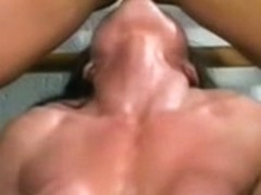 Les bodybuilder with large clitoris