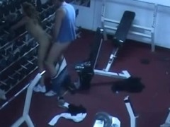 Horny girl fucking in gym on a spy cam