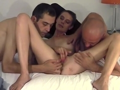 Two dudes finger-fuck me in homemade milf video