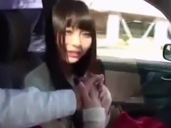 Cute japanese girl car sex