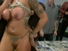 Big Titted Reality TV Star Ass Fucked in Public!