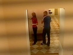 Hard Blowjob And Doggy In The Corridor!