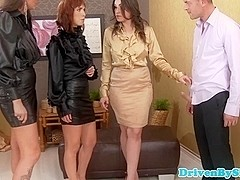 Classy euroslut assfucked by one guy