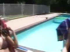 Hot Day At The Pool Turns Into A Threesome