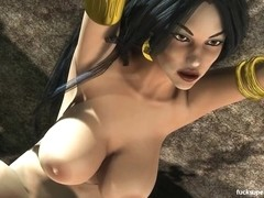 Vampirella gets naughty with the Big titty Mistress
