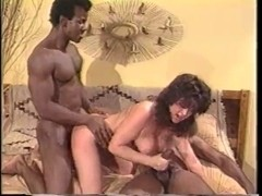 Classic Sweetheart Getting Screwed By 2 Darksome Rods