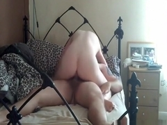 My gf rides me wild on top and i just pull out in time for the cumshot