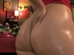 Showing my huge oily globes