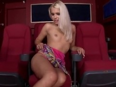 Blonde girl Brandy Smile is fingering pussy
