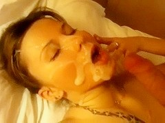 Home tape of wife blowing for facial