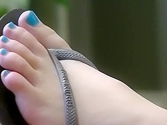 Candid blonde feet in LA 2015