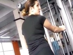 Wicked perv man in the gym