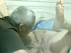 Eating my latin honey wife and fondling her with a sex tool