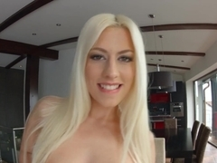 Allinternal Jessie Volt gags on two cocks and screams from a hard pounding before recieving a creampie