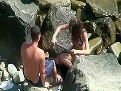 Couple fucking in the beach