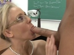 Natural titted blond teacher Julia Ann gets fucked from Rocco Reed