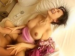 splendid and typical loud asian girl riding