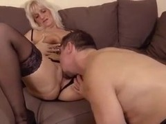 Blonde granny is in urgent need for hard cock