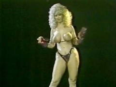 Becky Savage, Busty Belle, Candy Samples in vintage porn scene
