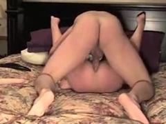 Sexually Lewd man is fucking his wife wazoo deep
