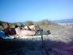 Beach sucking and fucking and cumming