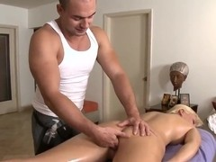 Stunnig blonde Lexi Swallow gets full body massage