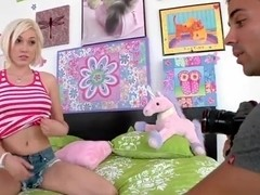 Teen blonde Lily LaBeau posing hot for Voodoo!