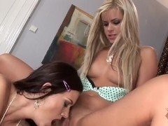 Czech hotties Bridget and Charlie playing with their pussies on the camera