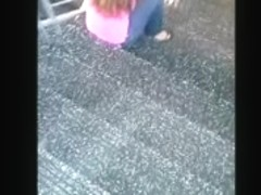 Library Stairwell Buttcrack Perfectly Timed Video
