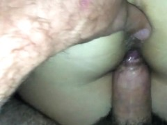 Fucking and cumming on my wifes hairy ass again