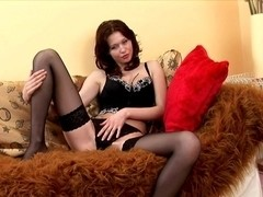 Saphire Smokes Up While Plowing Herself