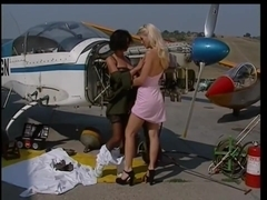 sam gets her gal -airport